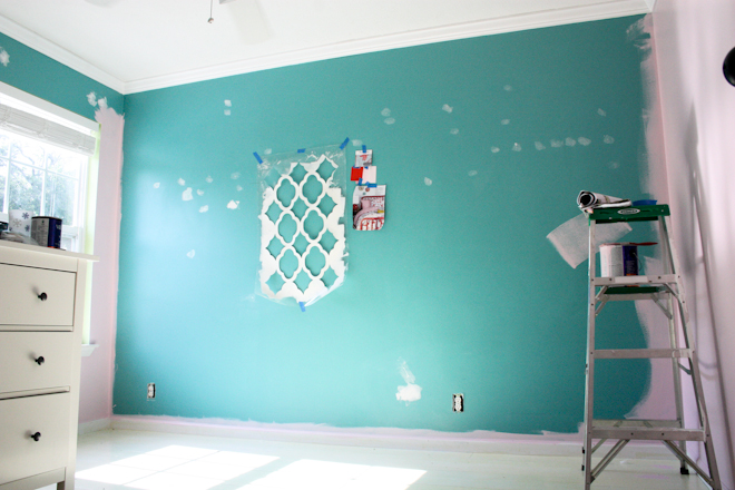 Pretty Paint Colors raechel myers | giant wall stencils and a happy dance
